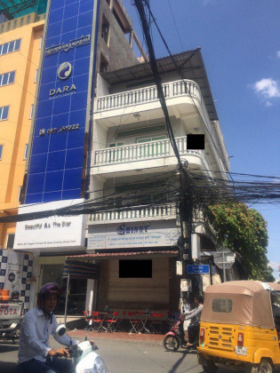 Flat Coner St.186 and St.265 3 Stories Flat in Phnom Penh