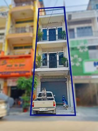 Shophouse For Lease In Daun Penh Flat in Phnom Penh