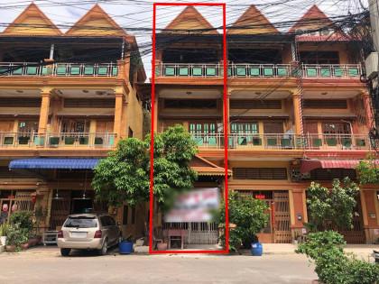 ផ្ទះអាជីវកម្មក្នុងបូរីពិភពថ្មីជិតផ្សារត្រពាំងថ្លឺង Flat in Phnom Penh