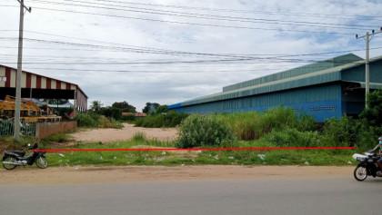 ដីជួលសម្រាប់បើកអាជីវកម្មនៅផ្លូវជាតិលេខ៦អេ ជ្រោយចង្វារ Land in Phnom Penh
