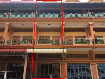 ផ្ទះអាជីវកម្មនៅក្នុងបូរីពិភពថ្មីជិតផ្សារត្រពាំងថ្លឺង Flat in Phnom Penh