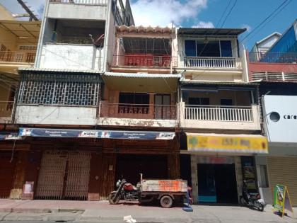 ផ្ទះអាជីវកម្មនៅជិតផ្សារកណ្តាល Flat in Phnom Penh